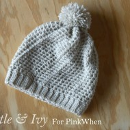 Diagonal Hatch Slouchy Hat Free Crochet Pattern