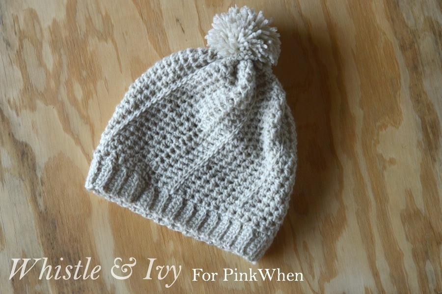 Diagonal Hatch Slouchy Hat Free Crochet Pattern