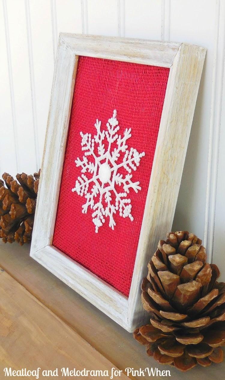 Framed Snowflake Ornament
