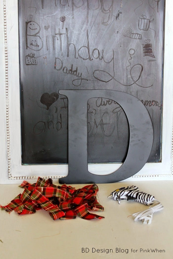 Monogrammed Framed Chalkboard