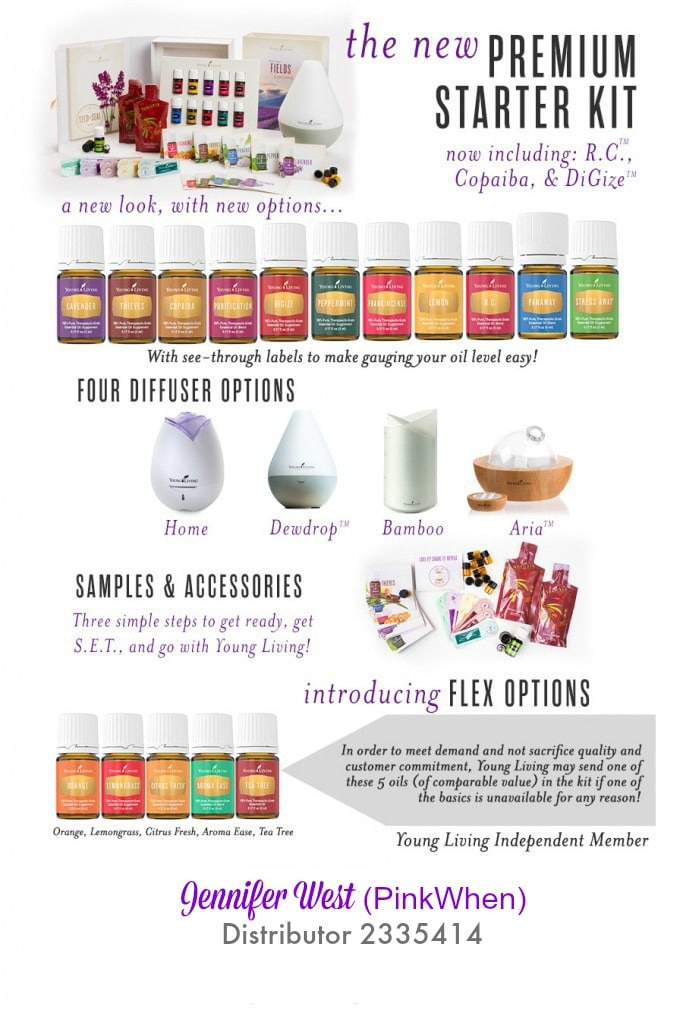 New Premium Young Living Starter Kit PinkWhen