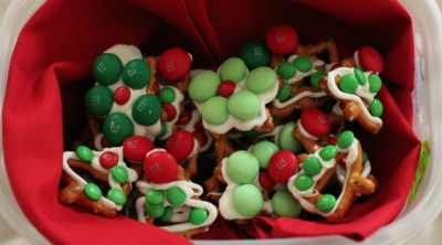 White Chocolate Christmas Holiday Pretzels