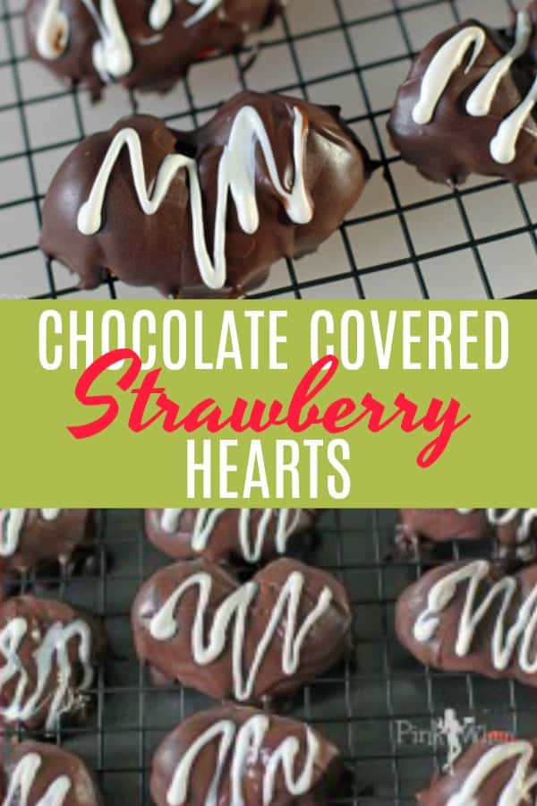 3 Steps and that's all for these quick, easy, and mouthwatering delicious 2 Ingredient Strawberry Hearts! It's a perfect homemade Valentine dessert that you can be done in less than 10 minutes! #strawberryhearts #chocolatecoveredstrawberries #Valetines #dessert