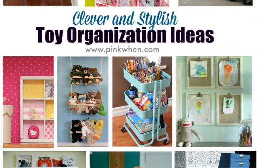 Clever and Stylish Toy Organization Ideas by Pink When