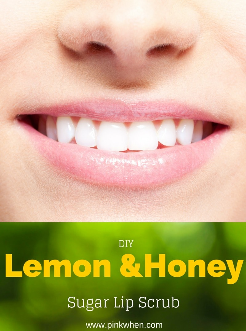 DIY Lemon Honey Sugar Lip Scrub
