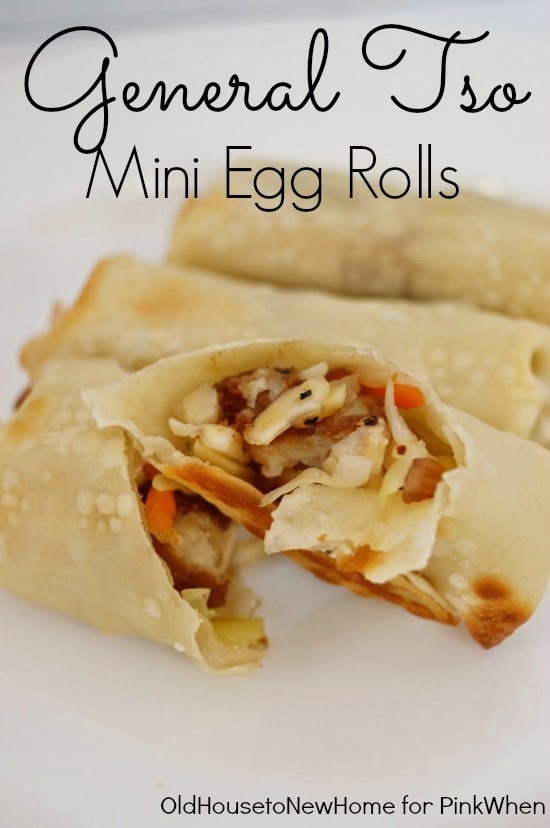 General Tso Mini Egg Rolls