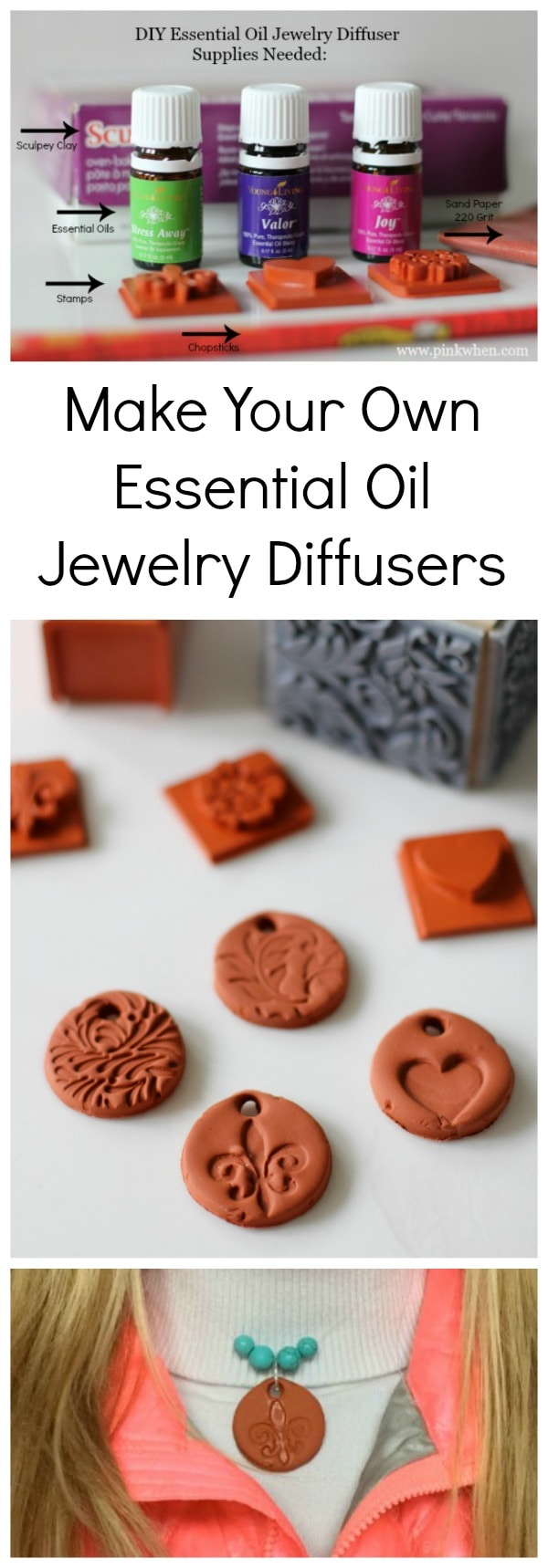 Make Your Own Essential Oil Jewelry Diffusers - DIY