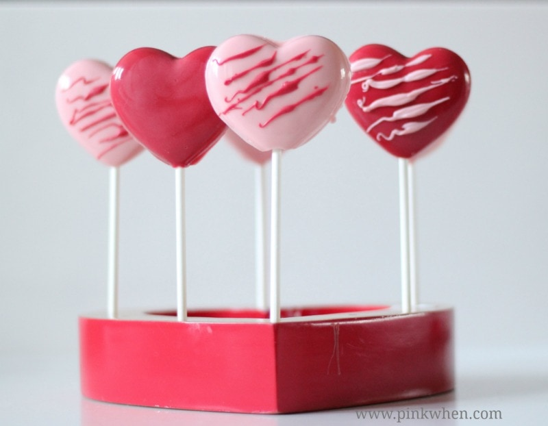Valentine Chocolate Heart Pops