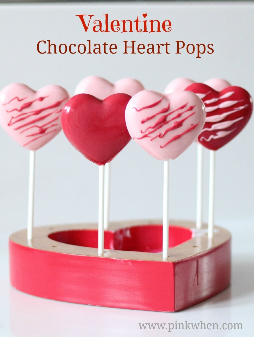 Easy Valentine Chocolate Heart Pops | PinkWhen