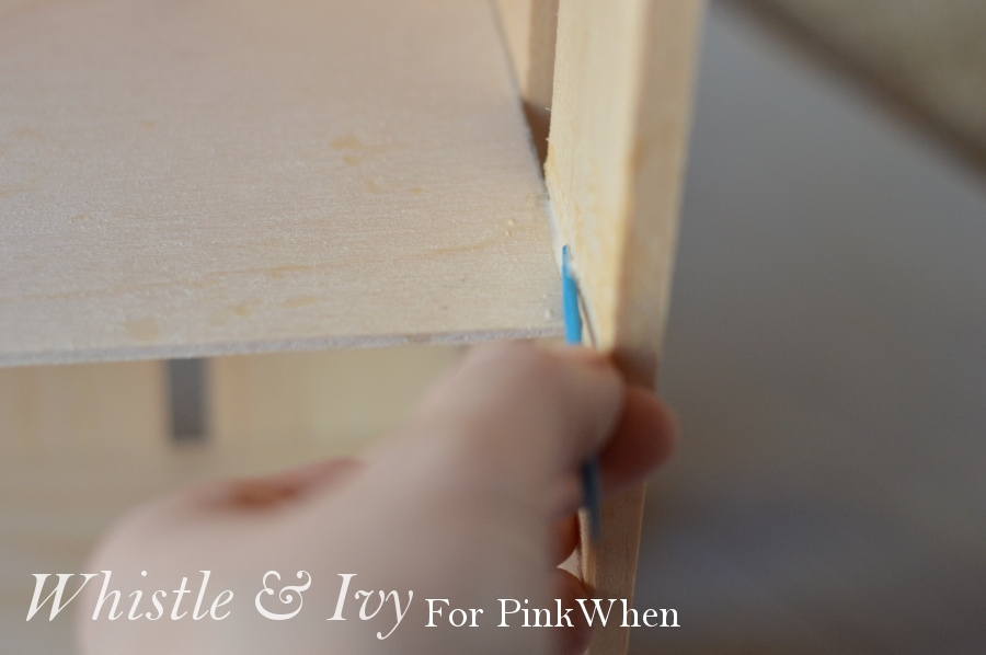 diy rope and crate shelf