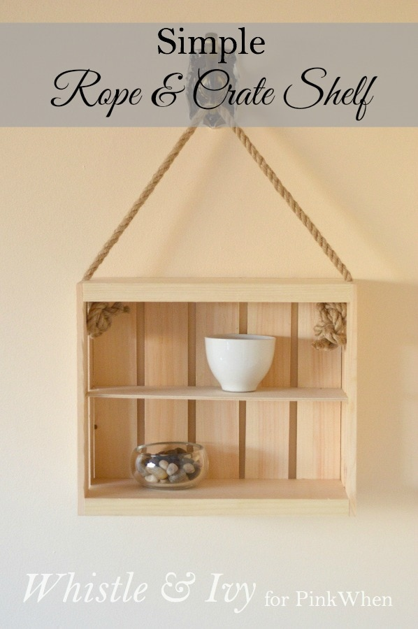 Diy Rope And Crate Shelf Pinkwhen