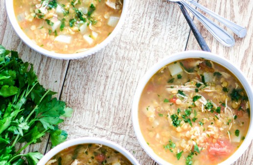 Red Lentil Soup with Chicken and Turnips