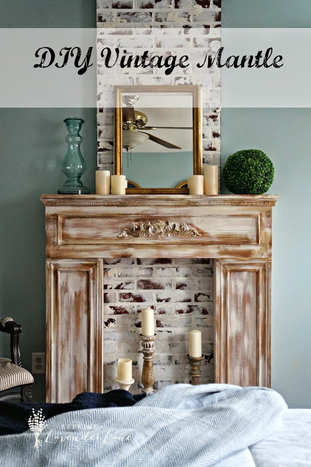 Bedroom Mantle with Label