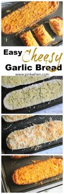 Easy Cheesy Garlic Bread @PinkWhen www.pinkwhen.com