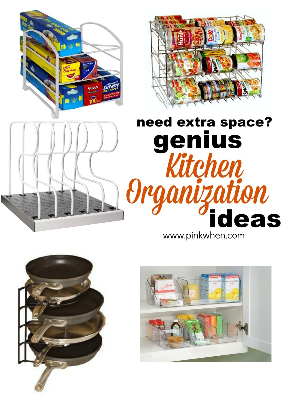Genius ideas for organizing the kitchen pinkwhen for Kitchen ideas organizing