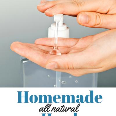 DIY Homemade All Natural Hand Sanitizer