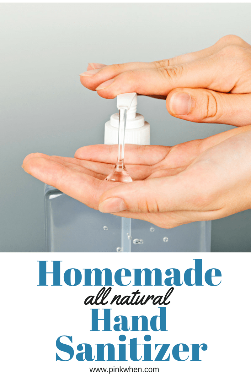 Homemade All Natural Hand Sanitizer via @PinkWhen