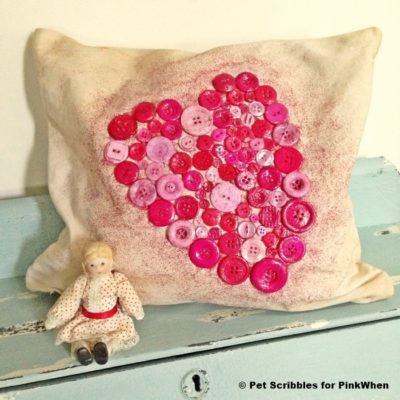 How to Make a Shabby Valentine Heart Pillow