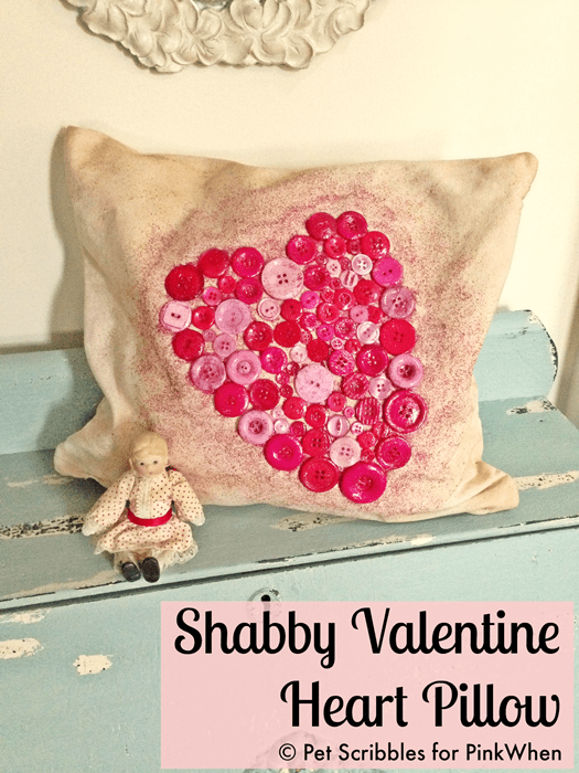 How To Make A Shabby Valentine Heart Pillow Pinkwhen