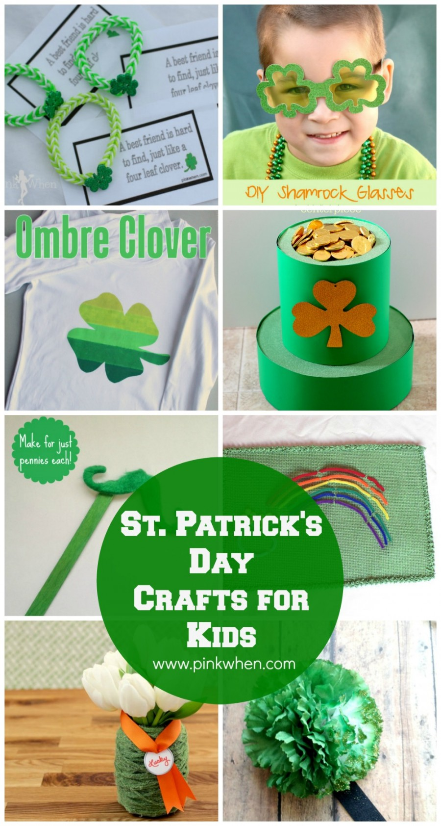 St patrick s day crafts for kids pinkwhen