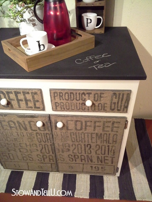 diy-decoupage-burlap-coffee-sack-covered-furniture