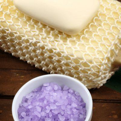 DIY Lavender Salt Scrub