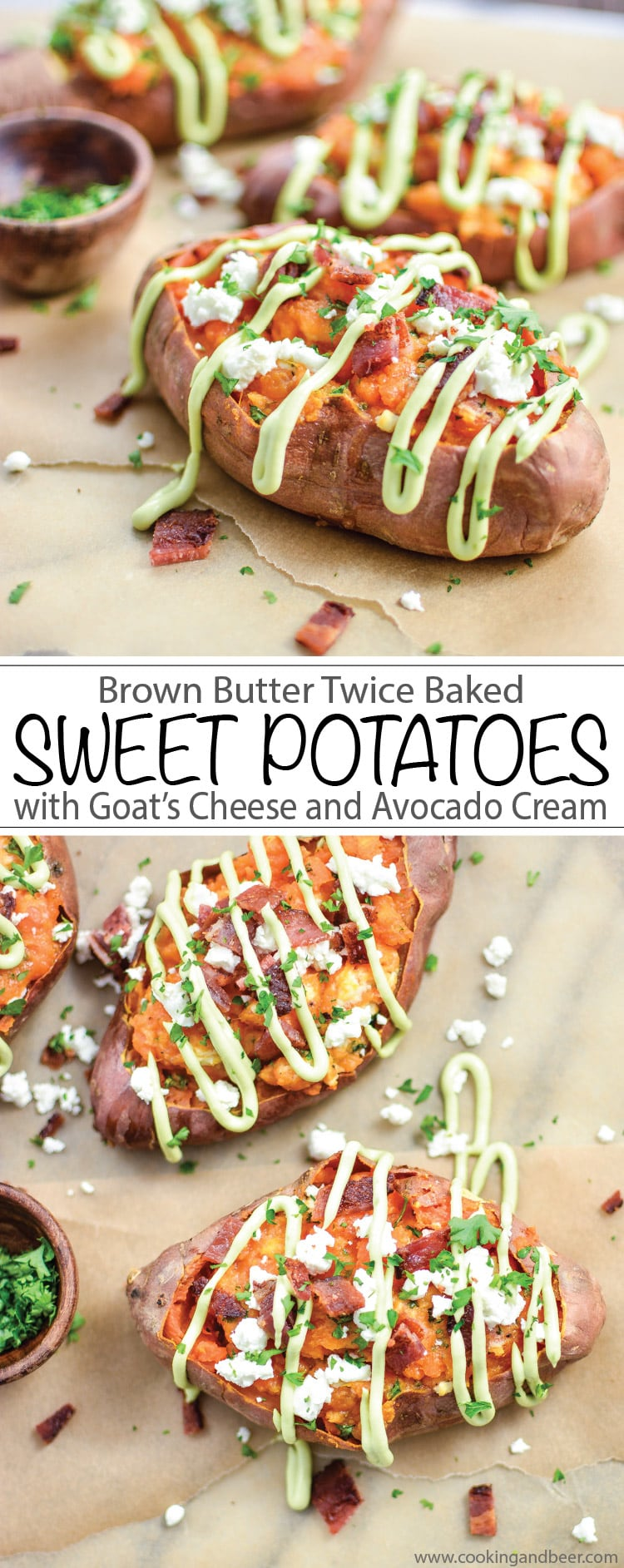 Brown Butter Twice Baked Sweet Potatoes