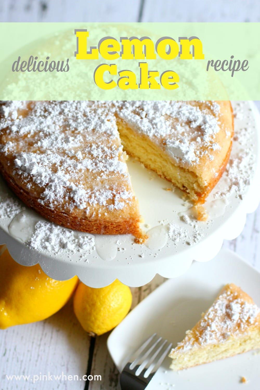 Delicious lemon cake recipe pinkwhen delicious lemon cake recipe forumfinder Gallery
