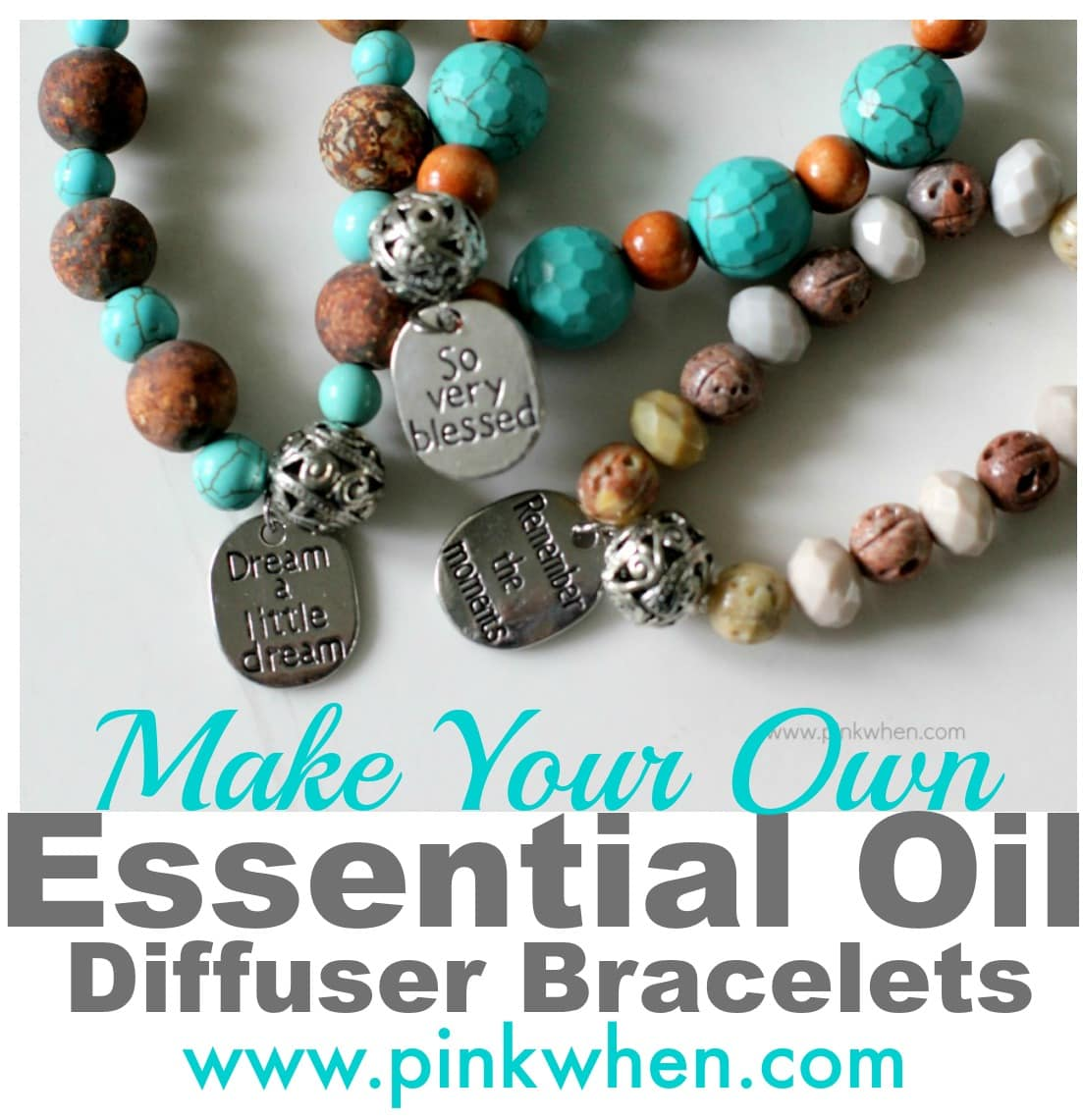 Essential Oil Diffuser Bracelet Pinkwhen