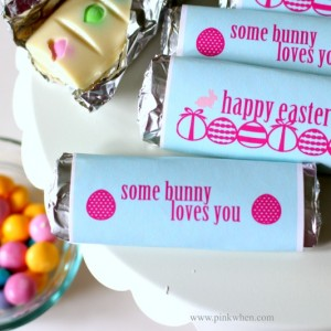 Easter Candy Bar Recipe and Printable Wrapper www.pinkwhen.com @pinkwhen
