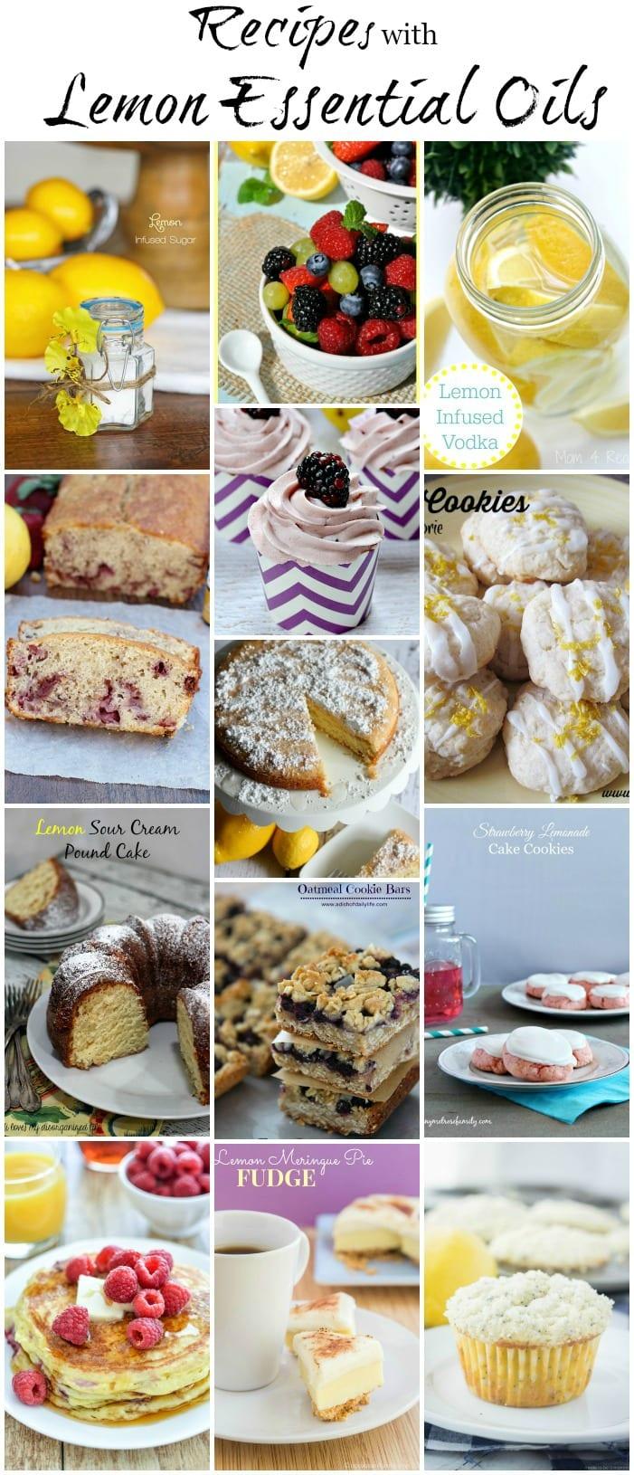 Recipes with Lemon Essential Oils