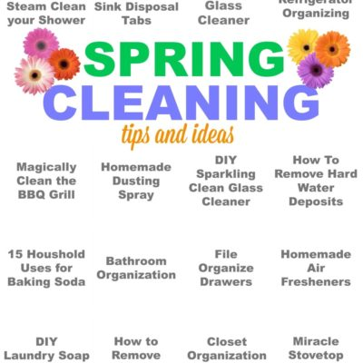 Spring Cleaning Tips & Ideas