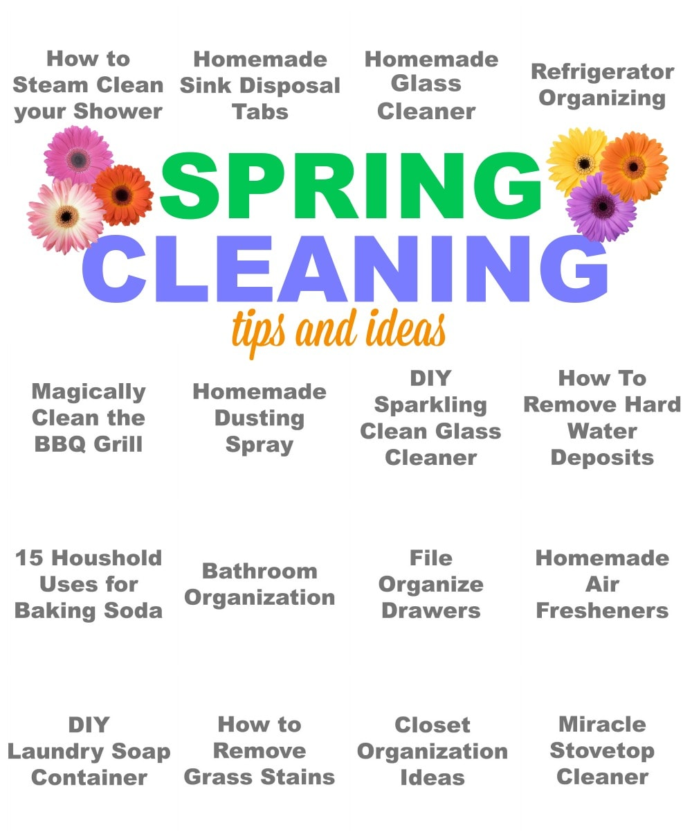 Spring Cleaning Ideas spring cleaning tips & ideas - pinkwhen
