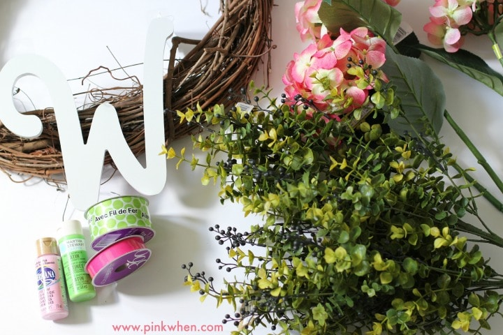 Spring Floral Outdoor Wreath Supplies