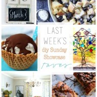 diy Sunday Showcase 4/11, and FAVS!