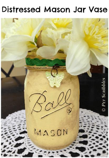 Distressed-Mason-Jar-Vase-413x600
