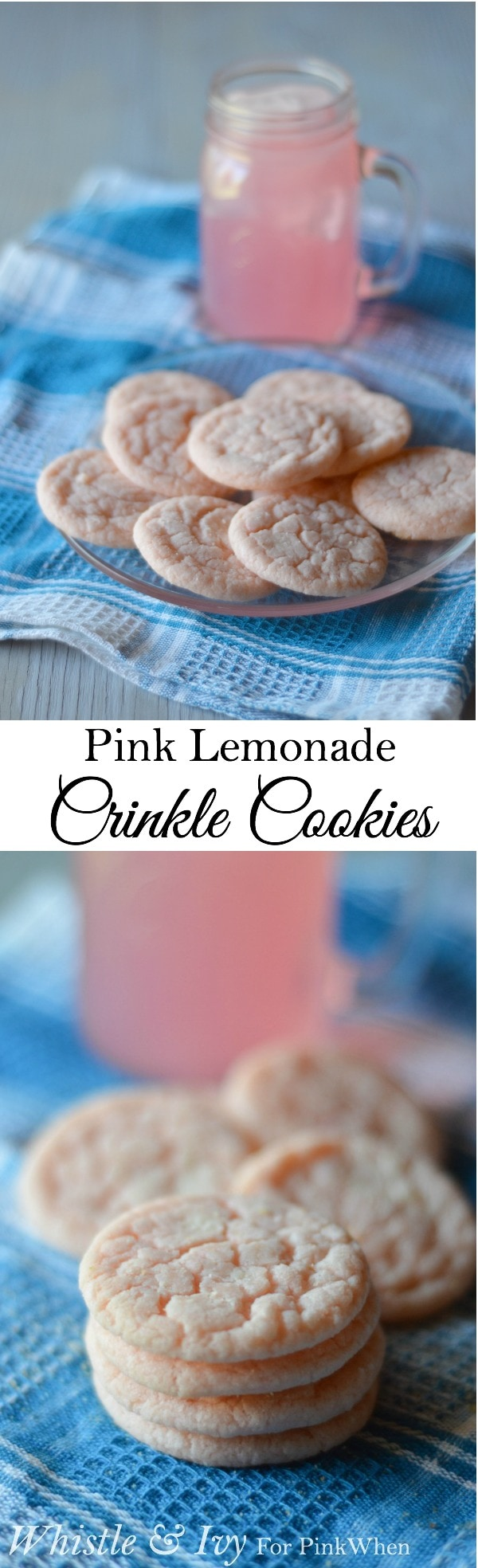 Pink Lemonade Crinkle Cookies