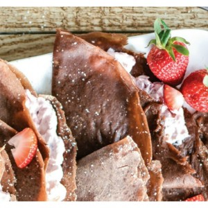 Strawberry Cheesecake Chocolate Crepes 5