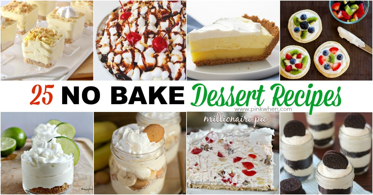 25 No Bake Dessert Recipes www.pinkwhen.com