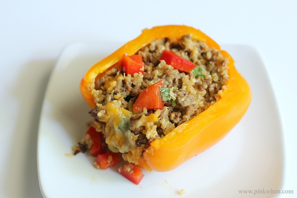 Chorizo and beef quinoa stuffed pepper recipe 2