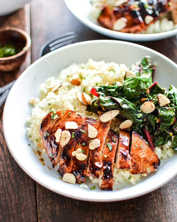 Barbecue Chicken Cauliflower Couscous Bowls