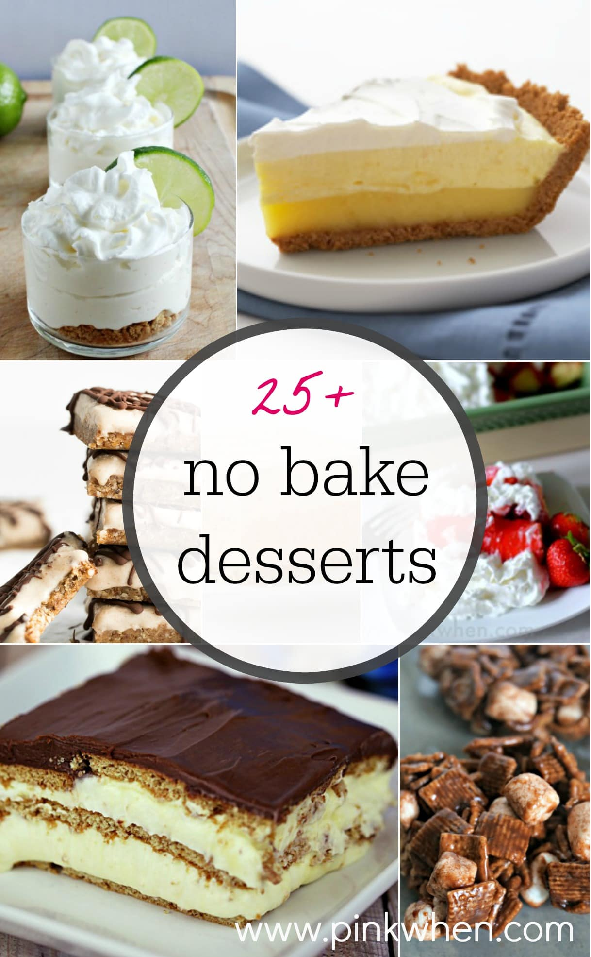 25+ No Bake Dessert Ideas - PinkWhen