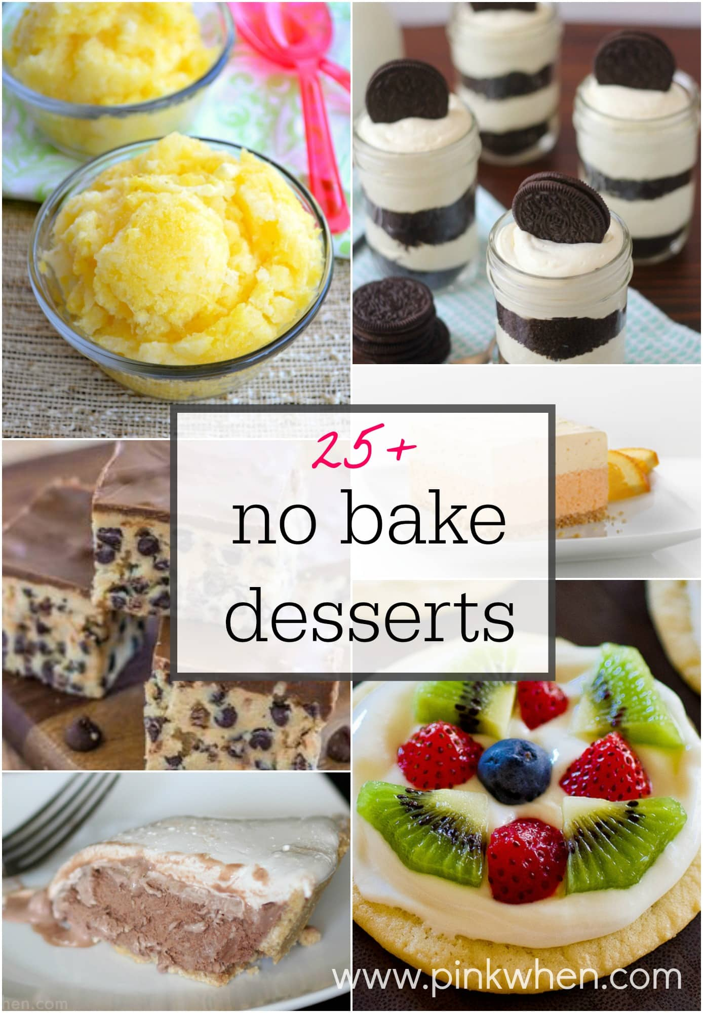 25 No Bake Dessert Ideas Pinkwhen