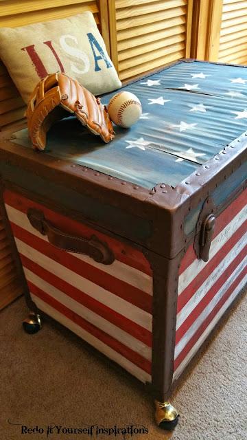 redoits USA flag trunk