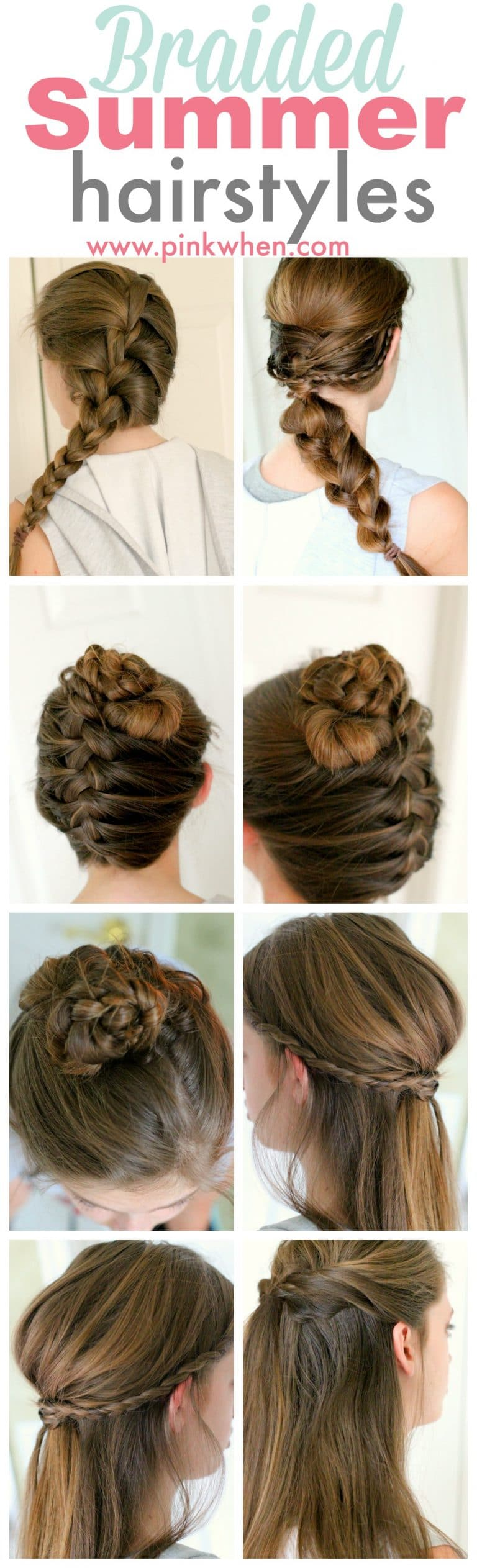summer hair up styles braided summer hairstyle ideas pinkwhen 3406