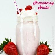 Homemade Strawberry Shake