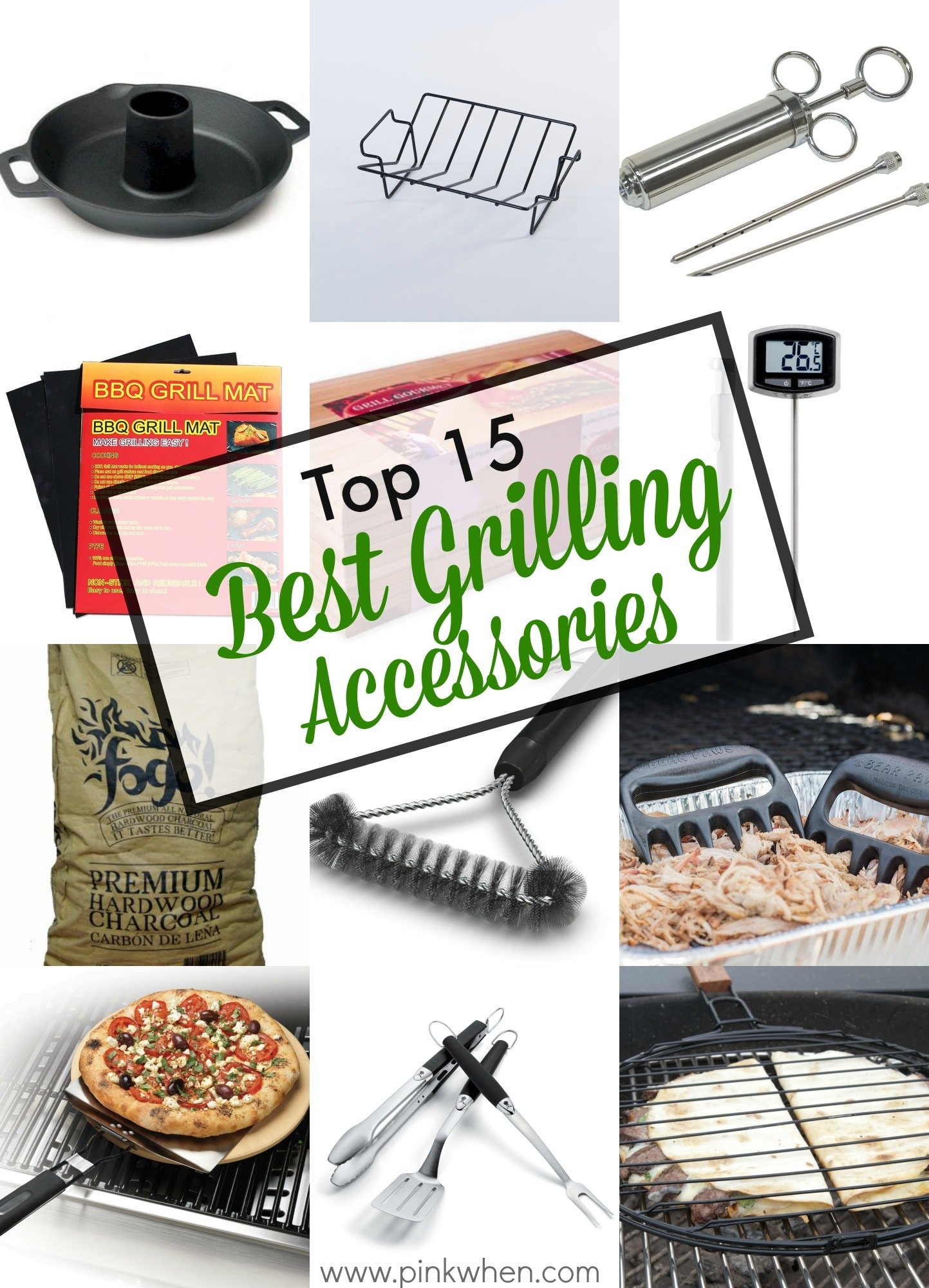 Top 15 Best Grilling Accessories via PinkWhen.com