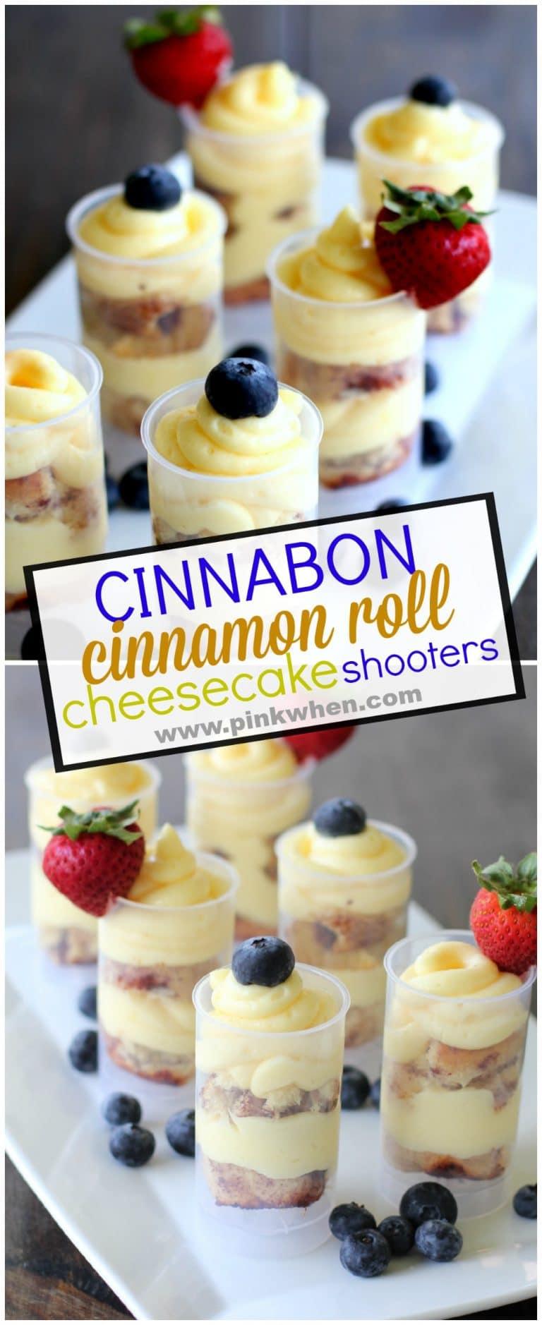 Cinnabon Cinnamon Roll Cheesecake Shooter www.pinkwhen.com