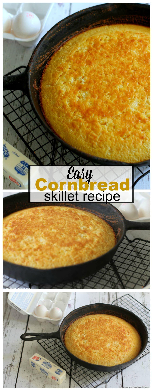 Easy Cornbread Skillet Recipe   www.pinkwhen.com