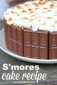 S'mores Cake Recipe @PinkWhen